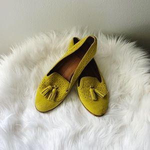 Dolce Vita • Chartreuse Suede Tassel Loafer